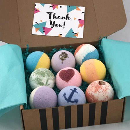 thank you gift of premium bath bombs