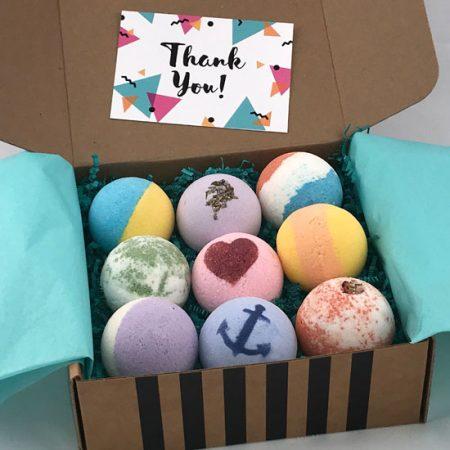thank you gift of premium bath bombs