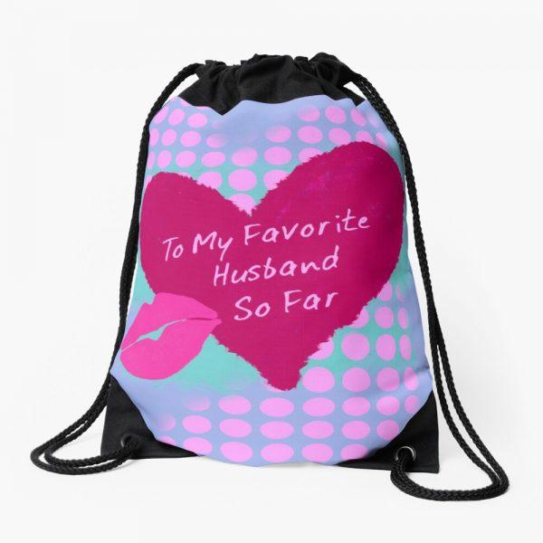 Drawstring bag - valentine gift for him
