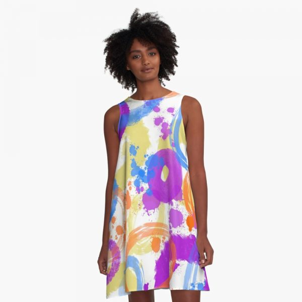 Modern abstract dress
