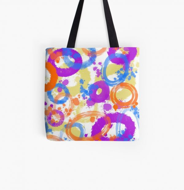 colorful abstract tote