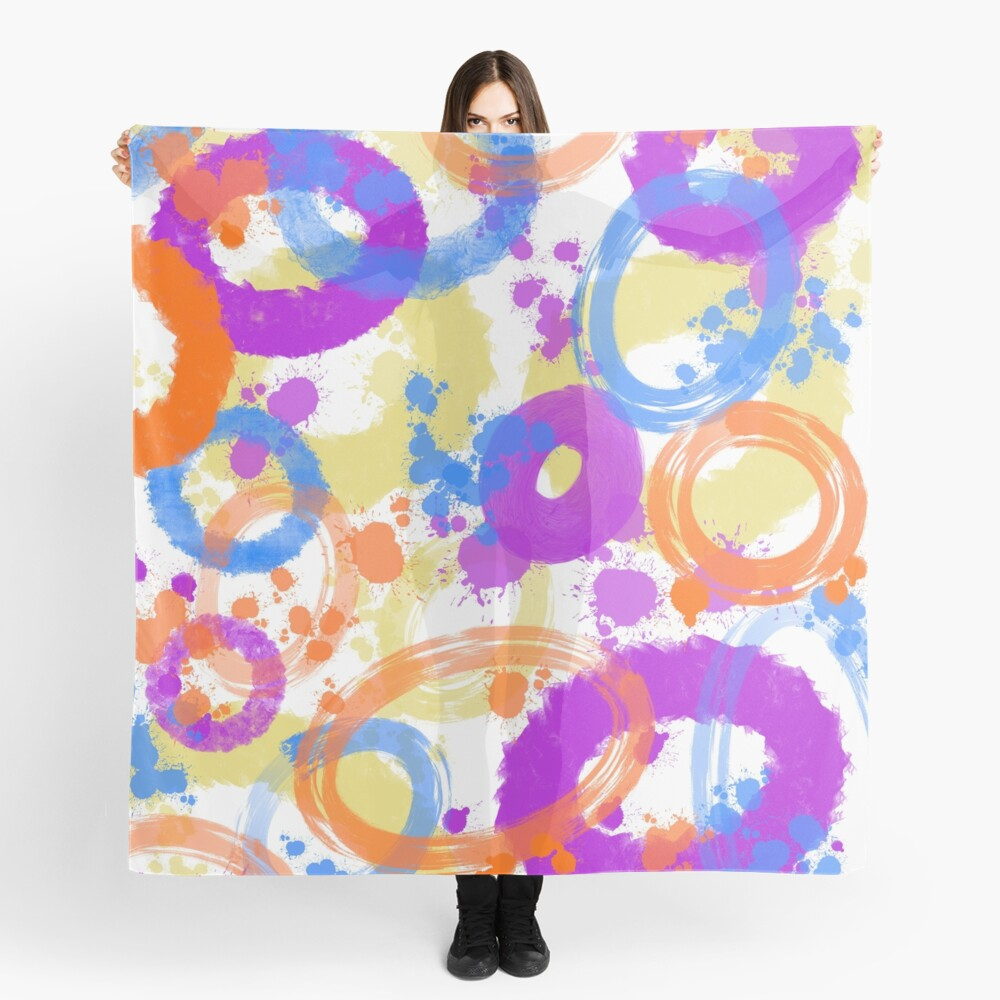 colorful abstract scarf