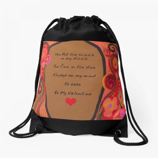 Valentine Poem Drawstring Bag
