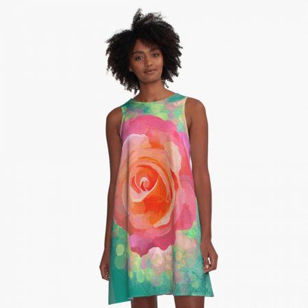 Rose A-line Dress